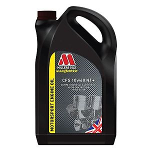 10w60 CFS Millers Nanodrive Technology NT + 5L Engine Oil Motorsport & Competition