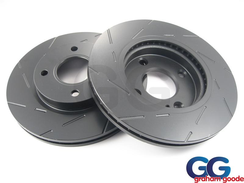 EBC Ultimax Grooved Front Brake Discs X2 | Ford Focus RS MK1