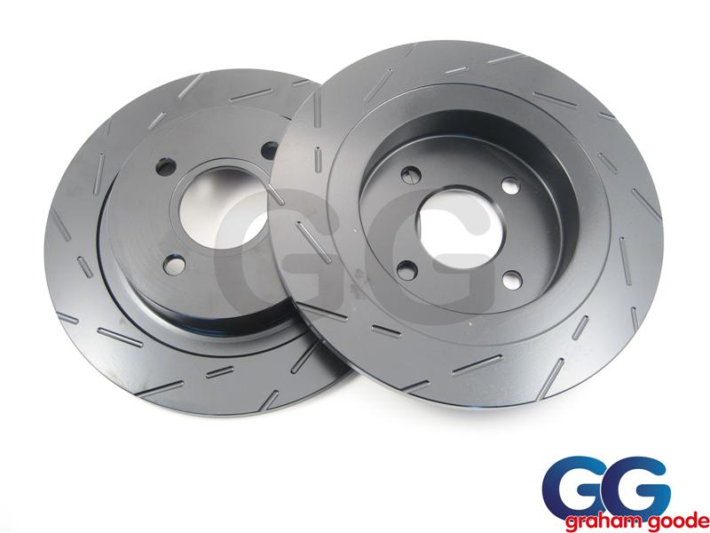 EBC Ultimax Grooved Rear Brake Discs X2 | Ford Focus RS MK1