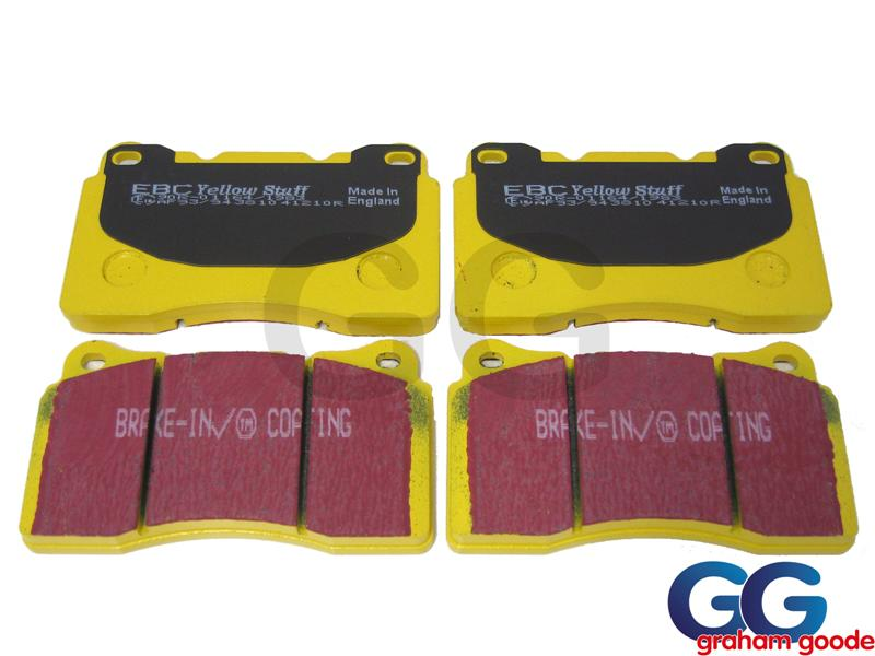 Front Brake Pads Impreza WRX STi 01- EBC Yellowstuff Uprated Trackday Fast Road Brembo DP41210R