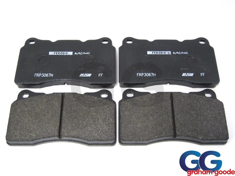 Front Brake Pads Impreza WRX STi 01 on Ferodo DS2500 Uprated Brembo Caliper FRP3067H GGS1267