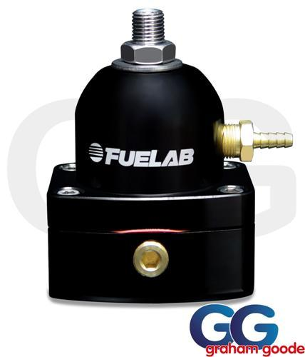 Fuelab Fuel Pressure Regulator Black 525 Single -6AN Inlet EFI 52501-1