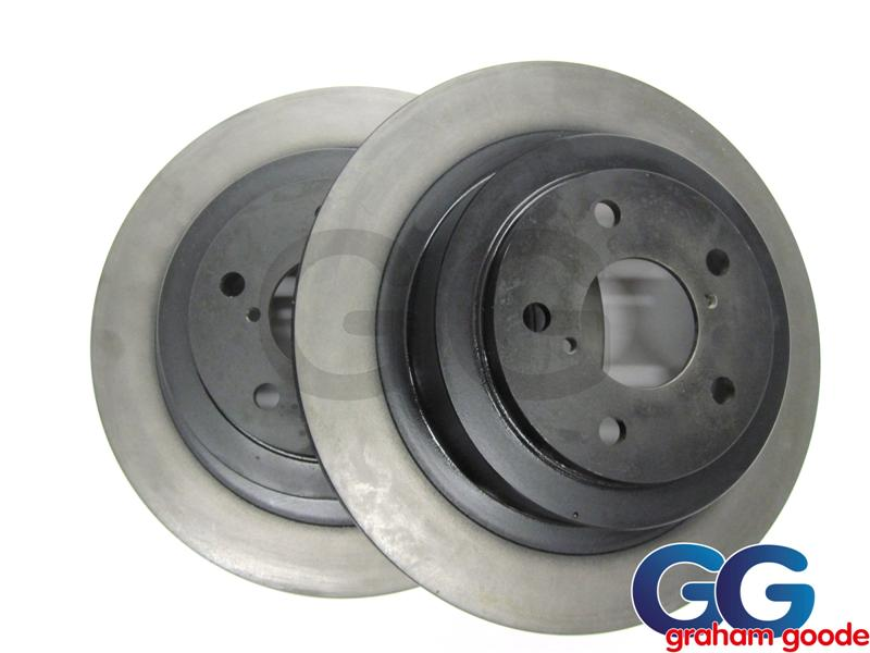 Impreza Rear Brake Discs 266mm Solid Standard Lucas OE GGS120
