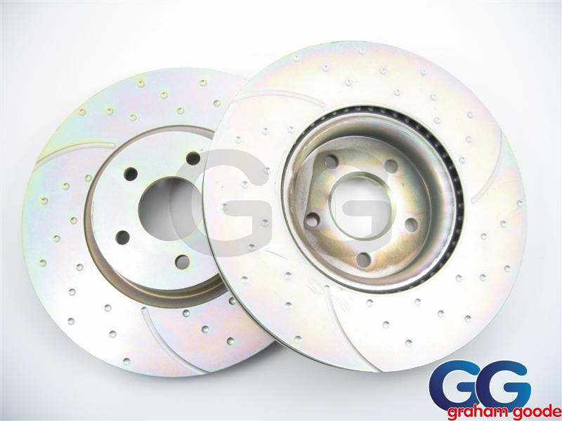 Impreza Rear Brake Discs 98-01 266mm Vented EBC Turbo Grooved Uprated GD730