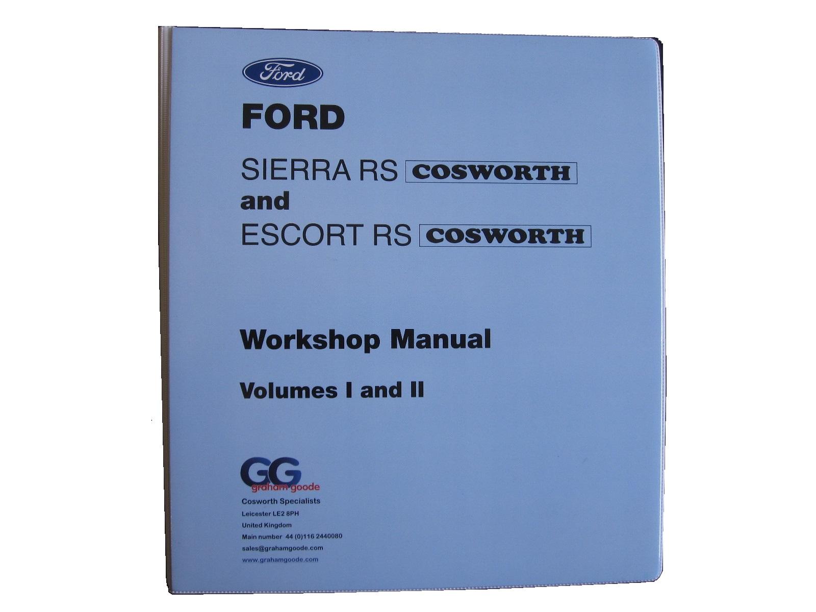 workshop manual sierra sapphire escort cosworth volume 1 2 folder rh shop grahamgoode com Renault 5 Turbo Ford RS Cosworth Engine